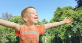 Cute little boy in the park — Stock Photo