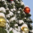 Cristmas balls and new year's fir tree — Stock Photo #56316491