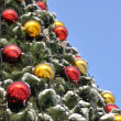 Cristmas balls and new year's fir tree — Stock Photo #56316753