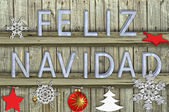 Letters navidad on wood  background — Stock Photo