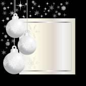 Three  silver  christmas balls — Stock Vector