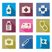 Set of medical icons -Vector illustration flat — Stock Vector