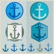 Vintage Retro Nautical Badges And Labels — Stock Vector #52951387