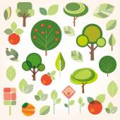 Set of flat gardening icons — Stock Vector