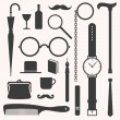 Gentlemens vintage stuff design elements set — Vector de stock  #55987345
