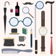 Gentlemens vintage stuff design elements set — Stock Vector #55987349