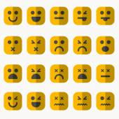 Set of different emoticons vector — Stock Vector