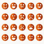 Set of different emoticons vector — Stockvektor