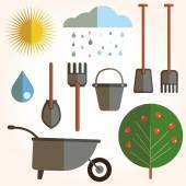 Garden set icons — Stock Vector