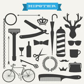 Hipster icon set vector illustration — Stock Vector