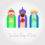 The three Kings of Orient wisemen — Stock Vector