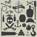 Pirates icons set — Stock Vector #61842895