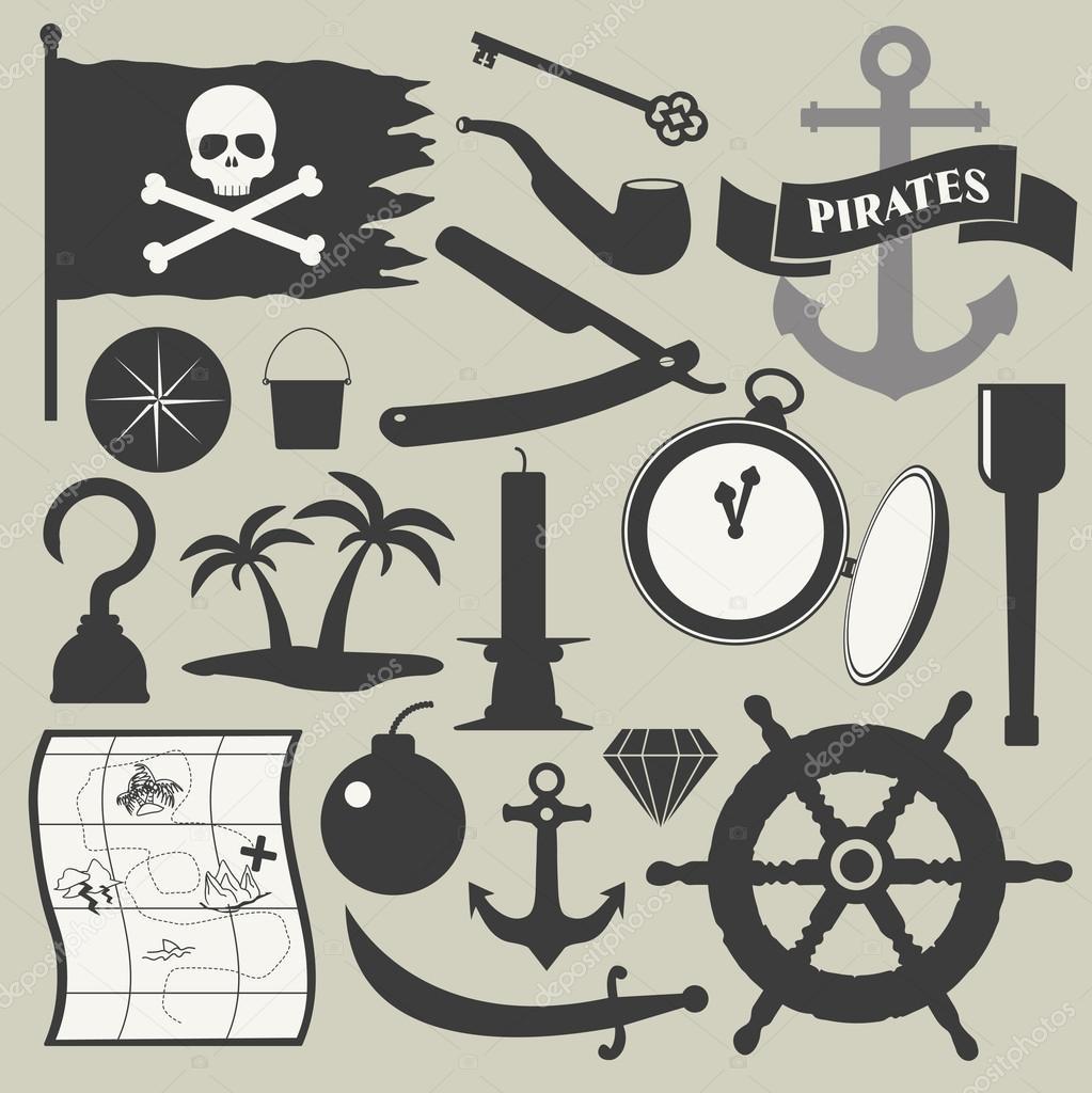 иконки пираты: