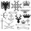 Heraldic symbols and elements — Stock Vector #62813883