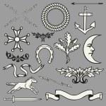 Heraldic symbols and elements — Stock Vector #62813891