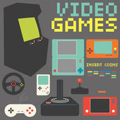 Video Games Icon Set — Stock Vector