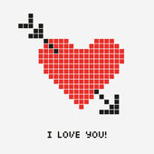 Illustration of a pixel heart vector — Wektor stockowy