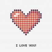 Illustration of a pixel heart vector — Stock Vector