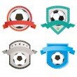 Set of soccer football and logo emblem designs — Stock Vector #65442589