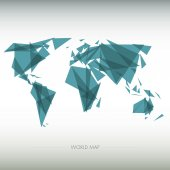 Geometric map of the world — Vettoriale Stock