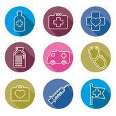 Набор медицинских иконок линии - векторные иллюстрации — Cтоковый вектор