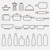 Kitchen Icon Set - Vector Graphics — Stock Vector