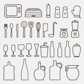 Kitchen Icon Set - Vector Graphics — Stock Vector