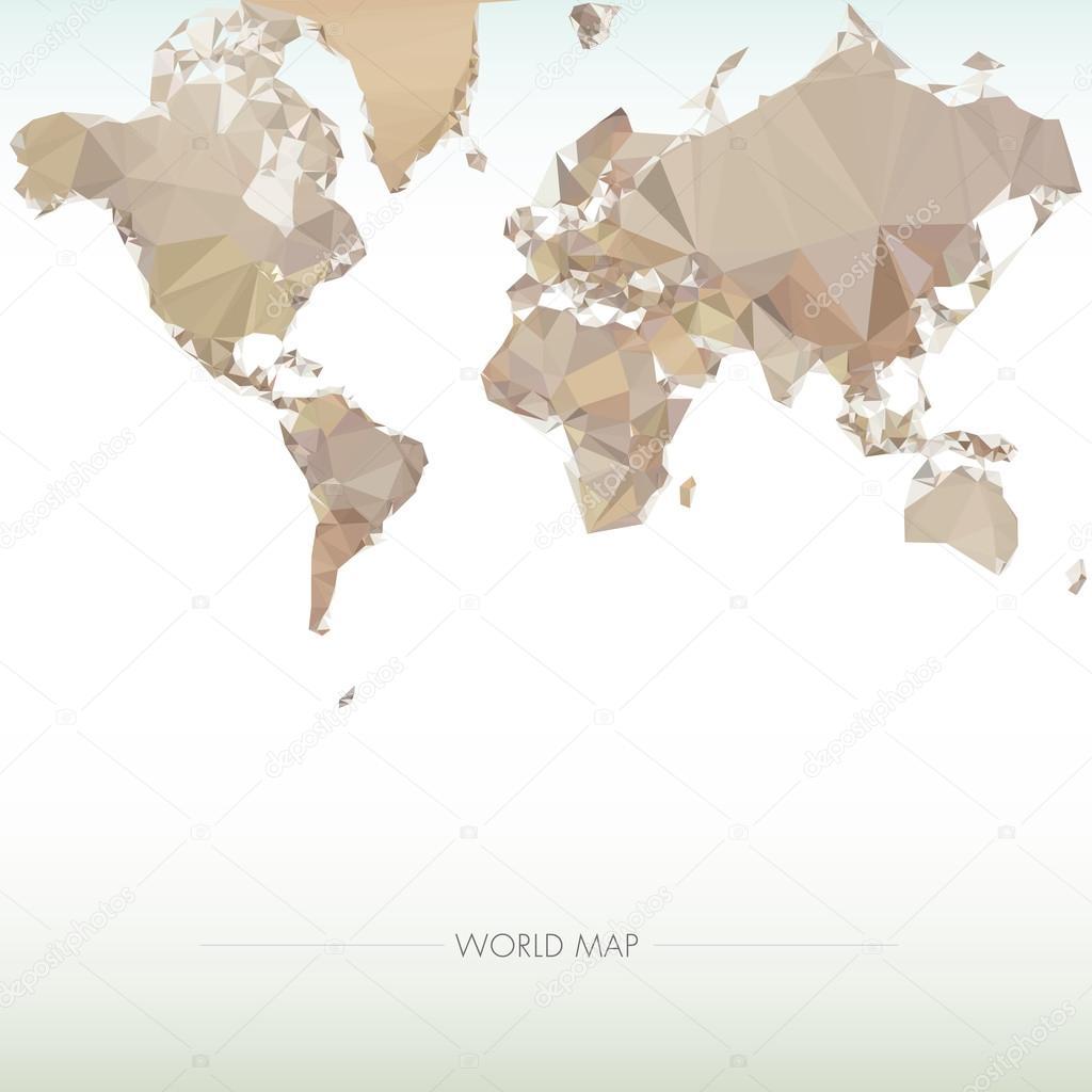 地球世界地图.低多边形矢量图