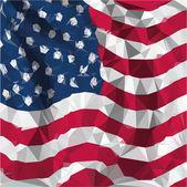 Low polygon illustration of USA American flaG — Vector de stock