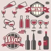 Wine labels and icons collection — Stock Vector