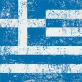 Greece Flag grunge — Stock Vector