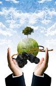 Wizja przyszłości dla zapisz koncepcja ziemi — Zdjęcie stockowe