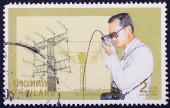 Razítko v thajsku ukazuje královské iniciované projekty — Stock fotografie