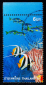 A stamp printed in Thailand shows image of life under the sea — Stock Photo