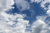 Cloudy blue sky background texture  — Stock Photo