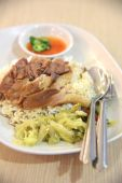 Stewed Pork Leg with Rice, Thai cuisine — Stock Photo