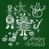 Christmas illustration, Hand drawing — Stock Photo