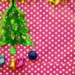 Christmas decorate board background — Stock Photo #60148841