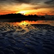 Nice sunset sky and sea at low tide in Payam island, Thailand — Stock Photo #68949881