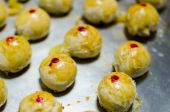 Chinese Pastry or Moon cake, Chinese festival dessert — Stock Photo