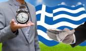 Deadline for pay debt, Greece Debt Crisis concept — Stock Photo