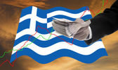 Creditors offer more loan, Financial Crisis in Greece concept — Stock Photo