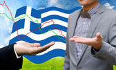 Creditors ask for pay dept, Financial Crisis in Greece concept — Stock Photo