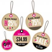 Black Friday Retail Labels — Stock Vector