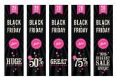 Black Friday Sale Web Banners — Vector de stock