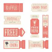 Festival & Carnival Tickets — Vector de stock