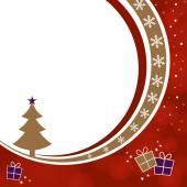 árbol de navidad y cajas de regalo — Vector de stock
