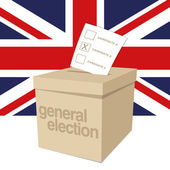 Ballot Box for a UK General Election — Stock Vector
