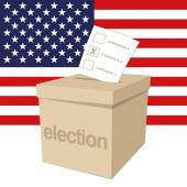 Ballot Box for a US election — Stock Vector