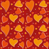 Valentine's Day Seamless Background — Stock Vector